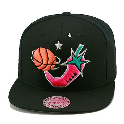 Mitchell & Ness NBA All Star Game 96' Snapback Hat BLACK/Pink Pepper/GREY BOTTOM](Pepper Hat)