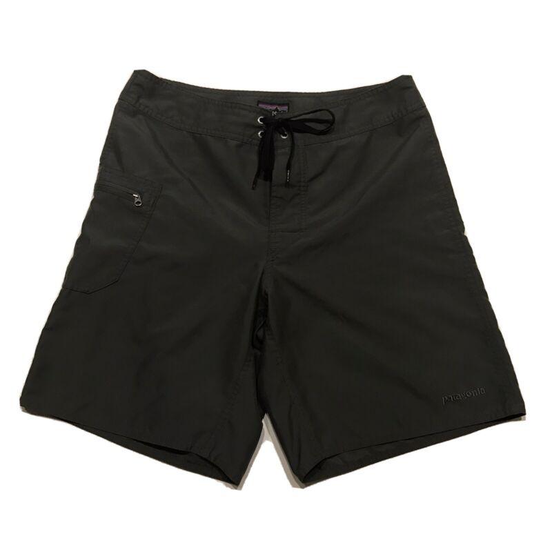 Patagonia Mens Size 31 Green Board Shorts Swim Trunks
