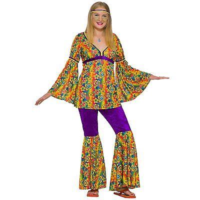 Teen Purple Haze Hippie Costume 60's Mod 1970's Girls Teen - Hippie Teen Kostüm