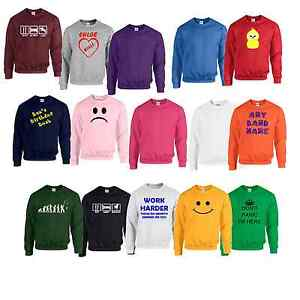 Sweatshirt-Plain-or-personalised-Sweat-Shirt-Jumper-S-to-7XL-plus-sizes
