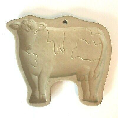 Vintage BROWN BAG COOKIE ART Ceramic COW MOLD 1986 Hill Design Inc.