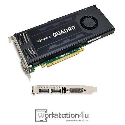 NVIDIA Quadro K4000 a-Ware SCHEDA GRAFICA CAD 3 GB RAM PCIE X16 1XDVI 2X usato  Spedire a Italy