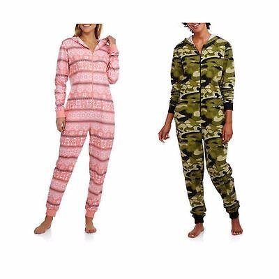 Neuer Frauen Body Candy Strick mit Kapuze Einteiler Schlafanzüge Kostüm Union S