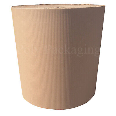 450mm x 5m CORRUGATED CARDBOARD PAPER ROLLS Postal Packaging Wrapping Parcels