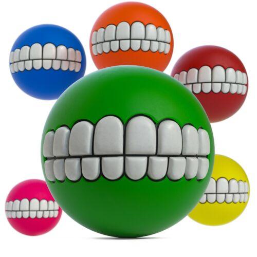 6 Pack Dog Balls Squeaky Ball Fetch Chew Toys for Dog - Gag Human Teeth Dog Ball
