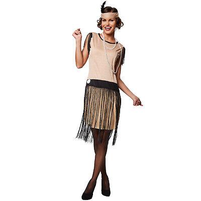 20er Jahre Kleid Kostüm (Frauenkostüm Charleston 20er Jahre Kleid Mottoparty Karneval Fasching Halloween)