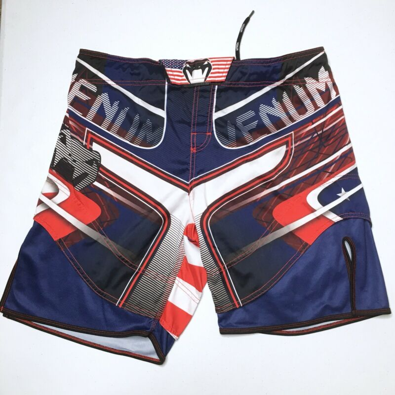 Venum USA FLAG MMA Combat JUJITSU SHORTS MENS SZ XL US 36