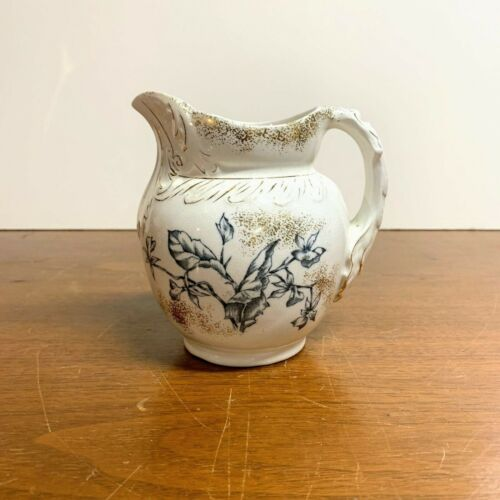 Antique Edwin Bennett Pottery Company Transferware Ironstone Pitcher