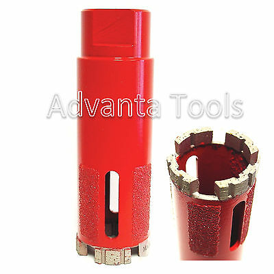 "1-3/8"" SUPREME Turbo Segment Dry Diamond Core Drill Bit for Granite Marble Stone"