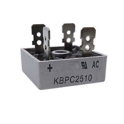 Us Stock 1pc Kbpc2510 25a Amp 1000v Volt Diode Bridge Rectifier 28 X 28 X 21mm