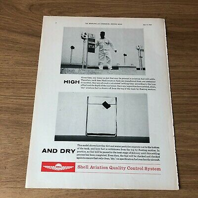 """(STA42) Advert 11x8"""" Shell Aviation Quality Control System, For Clean, Dry Fuel"""