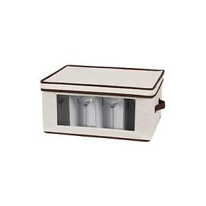 Household Essentials Stemware Goblet Storage Chest