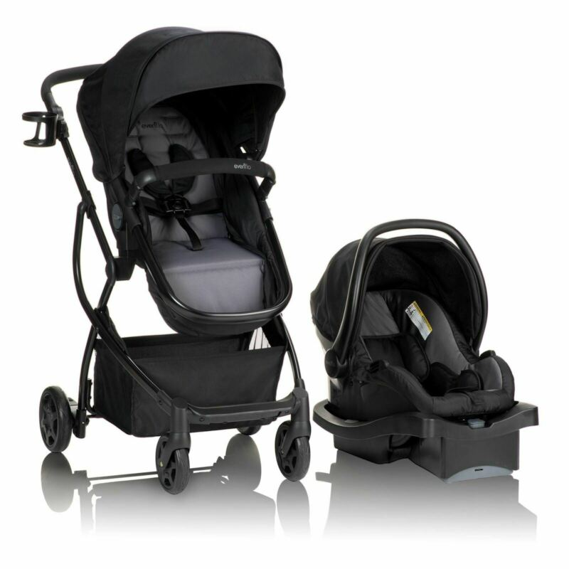 Evenflo Urbini Omni Plus Travel System with LiteMax Infant Car Seat, Alloy Gray