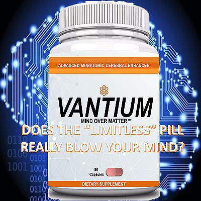 Vantium Brain Enhancement Nootropic Limitless Pill Focus ...