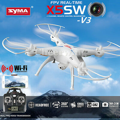 Syma X5SW-V3 RC Quadcopter 2.4Ghz 4CH 6-Axis Wifi FPV Drone With HD Camera RTF