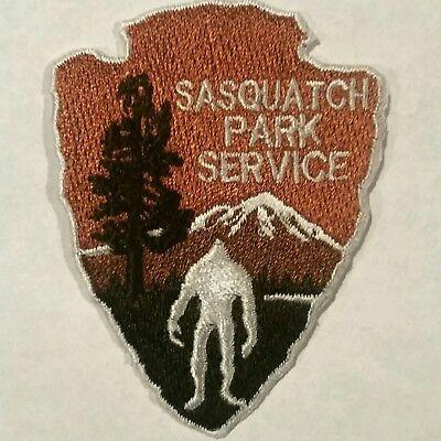 "BIGFOOT SASQUATCH PARK SERVICE Embroidered Patch Iron on & Sew 2.6"" h"