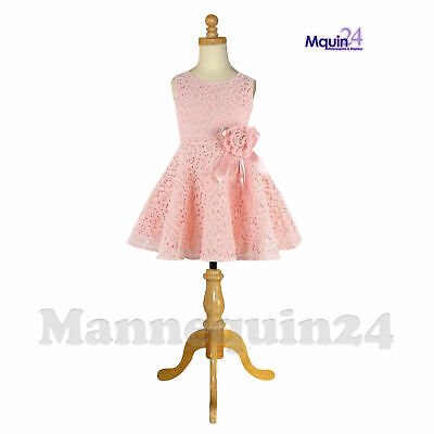 Kids Dress Body Form Mannequin 5-6 Yrs With Wooden Tripod Stand