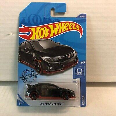 2018 Honda Civic Type R #81 * BLACK * 2020 Hot Wheels Case D * ZC7