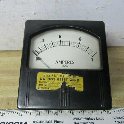 Meter Panel 1 A Ac 4 X 4 Inch Weston Vintage Steam Punk Ham Radio