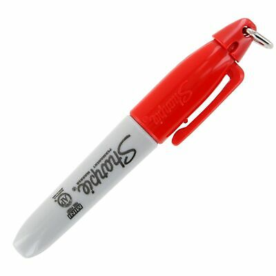 Sharpie Red Mini Marker With Cap Clip Key-chain Pack Of 12