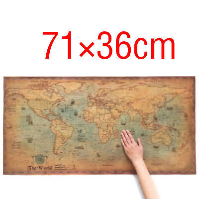 (THE World Map Nautical Ocean Sea maps Retro Old Art Paper Poster Wall Chart)