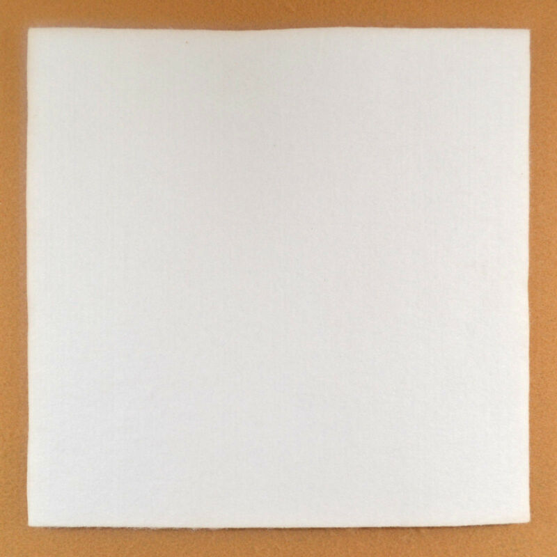 "Felt - White - 1/2"" Thick - 12"" x 12"" - Pack of 1 (E35)"