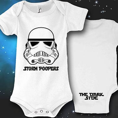 Baby-junge Ideen (Babybody Baby Strampler Druck Storm Poopers Geschenk idee lustig)