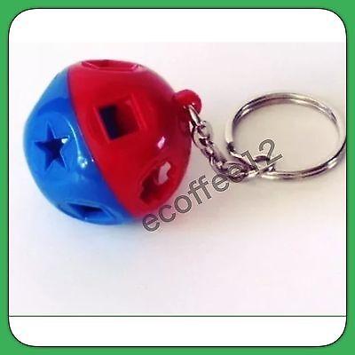 Tupperware Miniature Shape O Toy Keychain Blue Red New