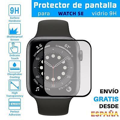 Protector de Pantalla para Apple Watch SE 40 mm Negro cristal templado...