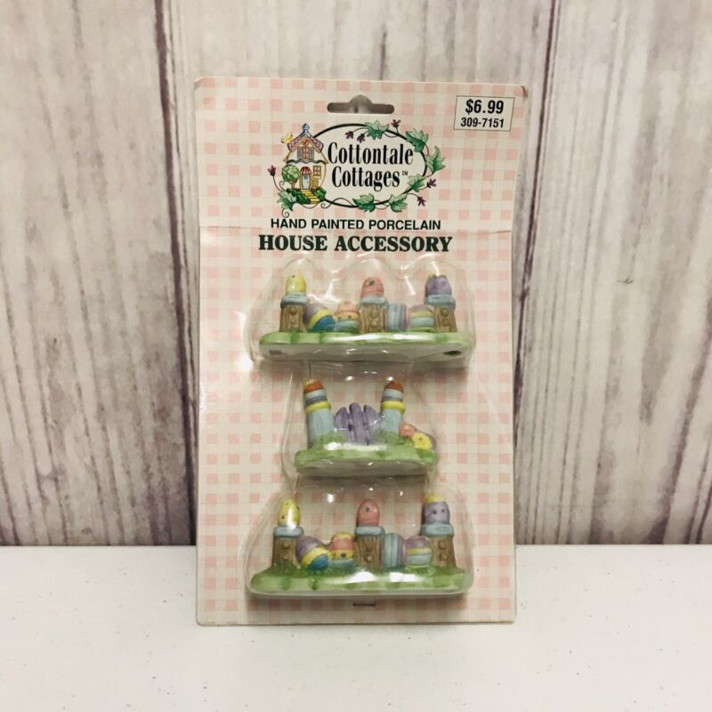 Cottontale Cottages House Accessory Hand Painted Porcelain Easter