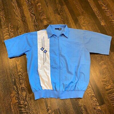 Vtg 70s 80s JOHN BLAIR Leisure Shirt Jacket ZIP Boogie Nights Disco Mens 2XL XXL Mens Disco Jacket