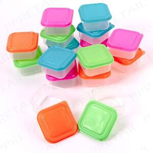 32x SMALL FOOD STORAGE CONTAINERS Nuts/Snacks/Fruit Sauce/Dressing Leftover Tub