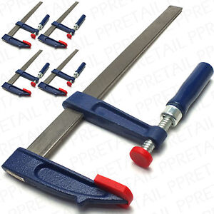 LARGE-SETS-OF-4-F-CLAMP-250-300mm-Quick-Release-Metal-Bar-Gripper-G-Vice-Clasp