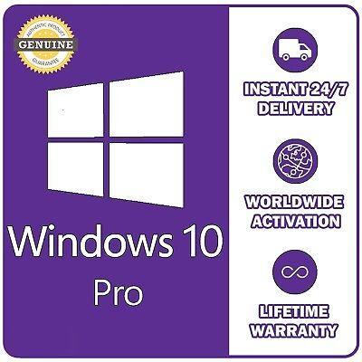 GENUINE WINDOWS 10 PRO 32 / 64BIT OEM ORIGINAL LICENSE KEY - SCRAP PC