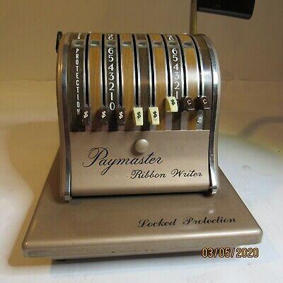Vintage Paymaster Check Imprinting Machine 8n118928 8 Column Series 8000