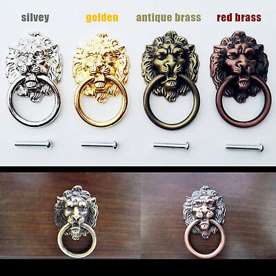 Lion Head Cabinet Handle Knob Drawer Pull Closet Drawer Door Hardware Kitchen