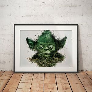 Yoda Forest Cool Painting - A4 Poster - FREE Shipping