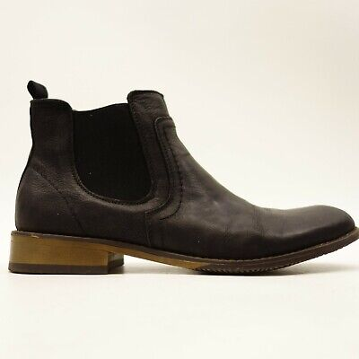 J75 By Jump Mulligan US 10 Black Leather Chelsea Ankle Mens Boots