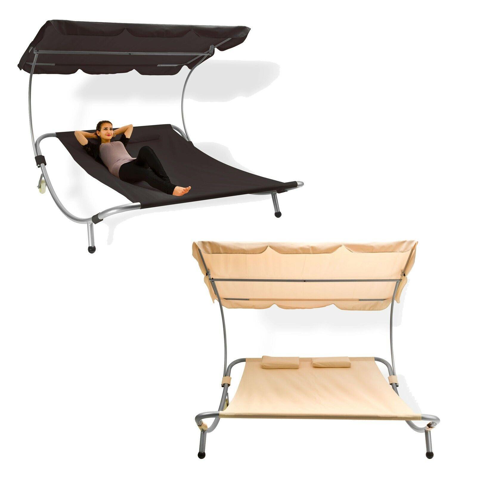 Doppelliege Gartenliege Relaxliege Freizeitliege Palma - Farbe nach Wahl