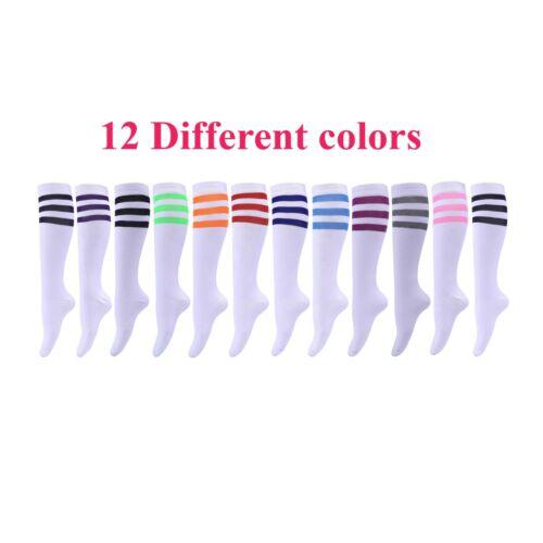 Knee High Socks Women lady Girl Uniform School 12 Pairs Size 9-11 Wholesale Lot