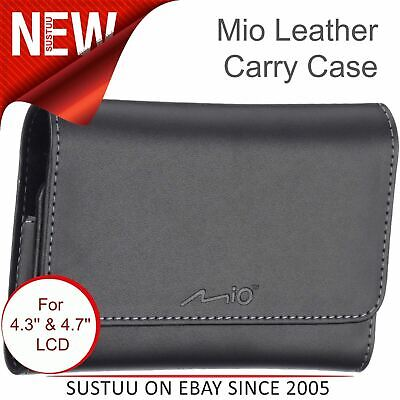 Mio Deluxe GPS SatNav Premium Leather Carry Case│For Universal 4.3