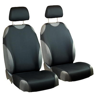 Schwarze Sitz (Schwarze Sitzbezüge für Alle NISSAN Autos Autositzbezug VORNE)