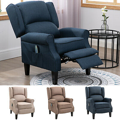 relaxing fabric heated massage chair vibrating recliner