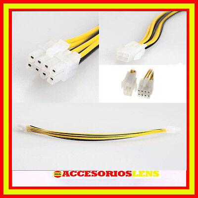 CABLE ORDENADOR CPU Atx 4 Pin Macho A 8 Hembra Eps de...
