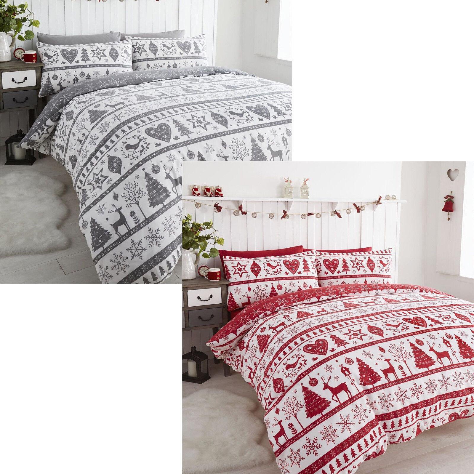 Christmas Bedding Set With Pillowcase Single Double New Christmas Design SPIRIT