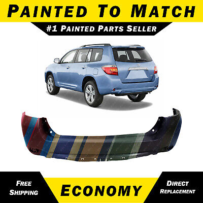 NEW Painted To Match Rear Bumper Cover for 2008-2010 Toyota Highlander SUV 08-10