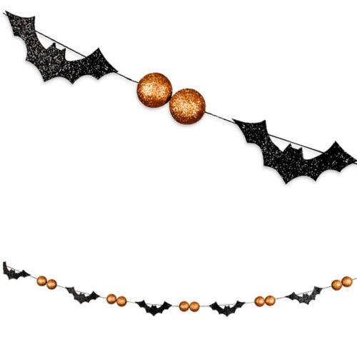"Bethany Lowe Halloween ""Bats and Orange Beads Garland"" TF9842"