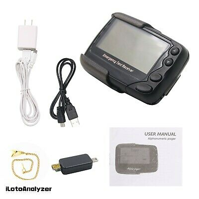 Programmable Alphanumeric Pager Charging POCSAG Pager Emergency Text Receiver
