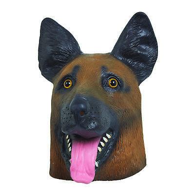 Erwachsene Schäferhund Elsässer Hund Maske Latex Tier Masken Kostüm