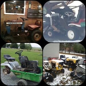 WANTED: unwanted garden tractors, riding mowers